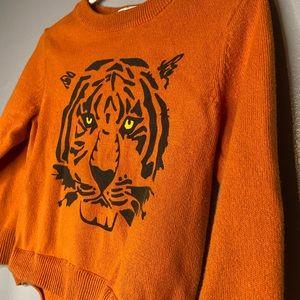 Toddler Orange tiger sweater